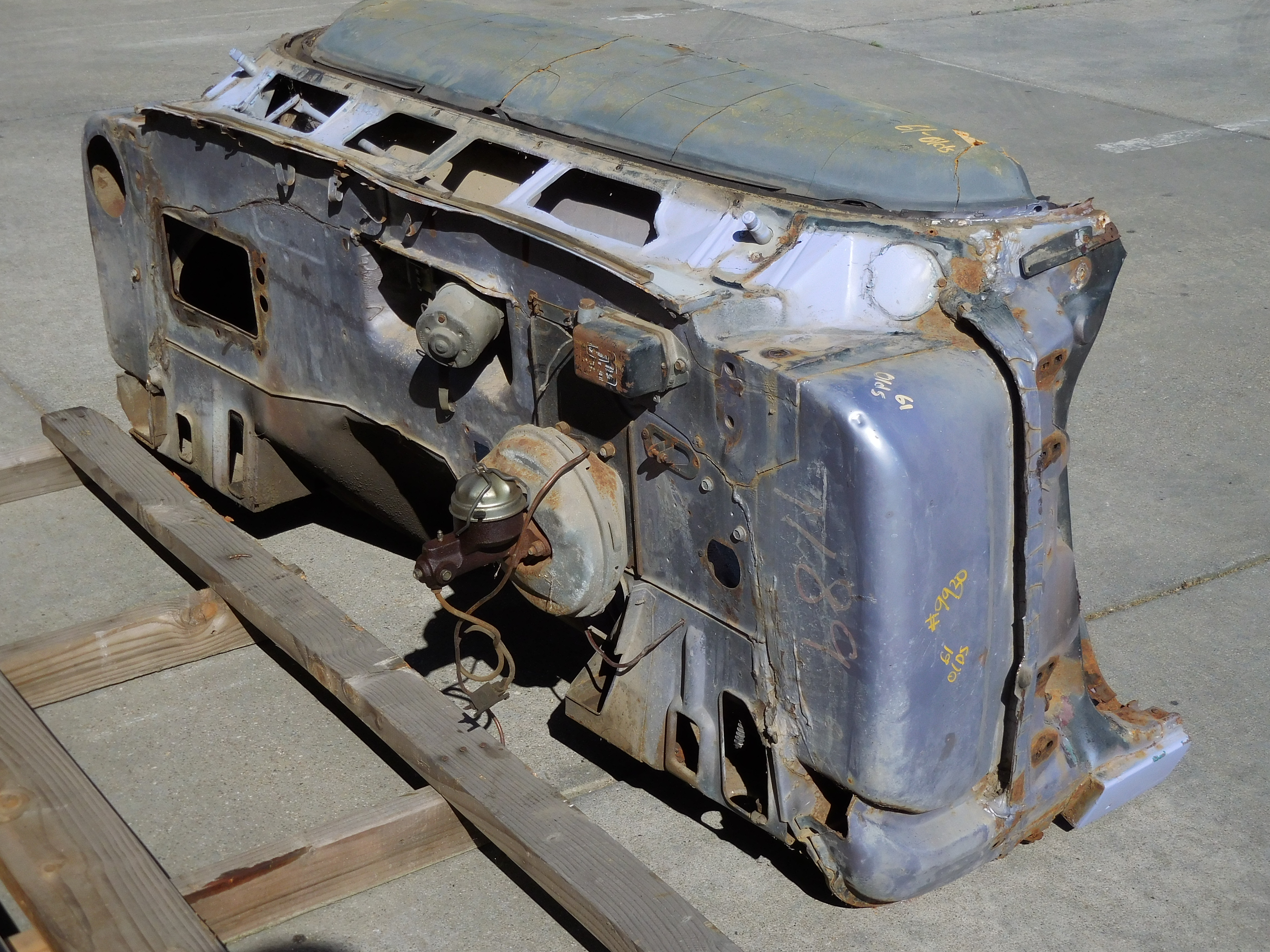 1961 Oldsmobile Full Size Cowl Section and Firewall Cut ...