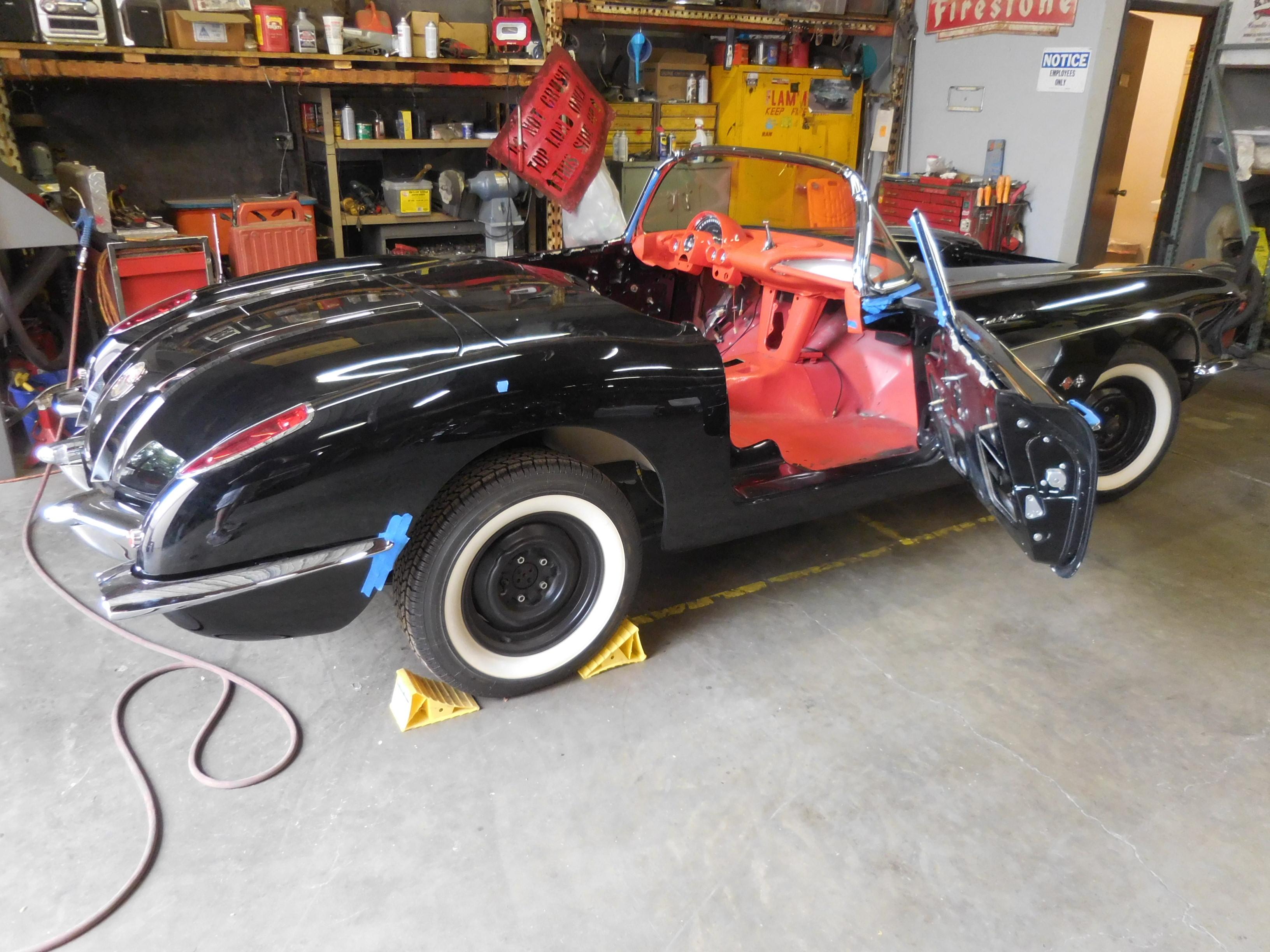1958, Chevrolet, Corvette, Restoration,car,