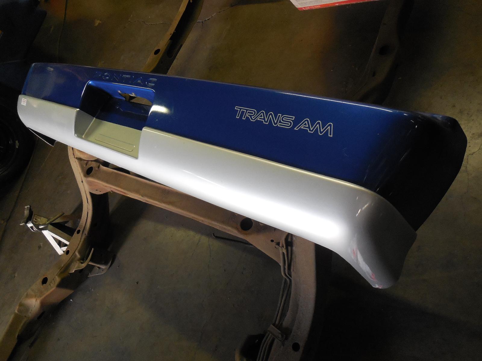 1985-1990 Pontiac Firebird Trans Am Rear Bumper