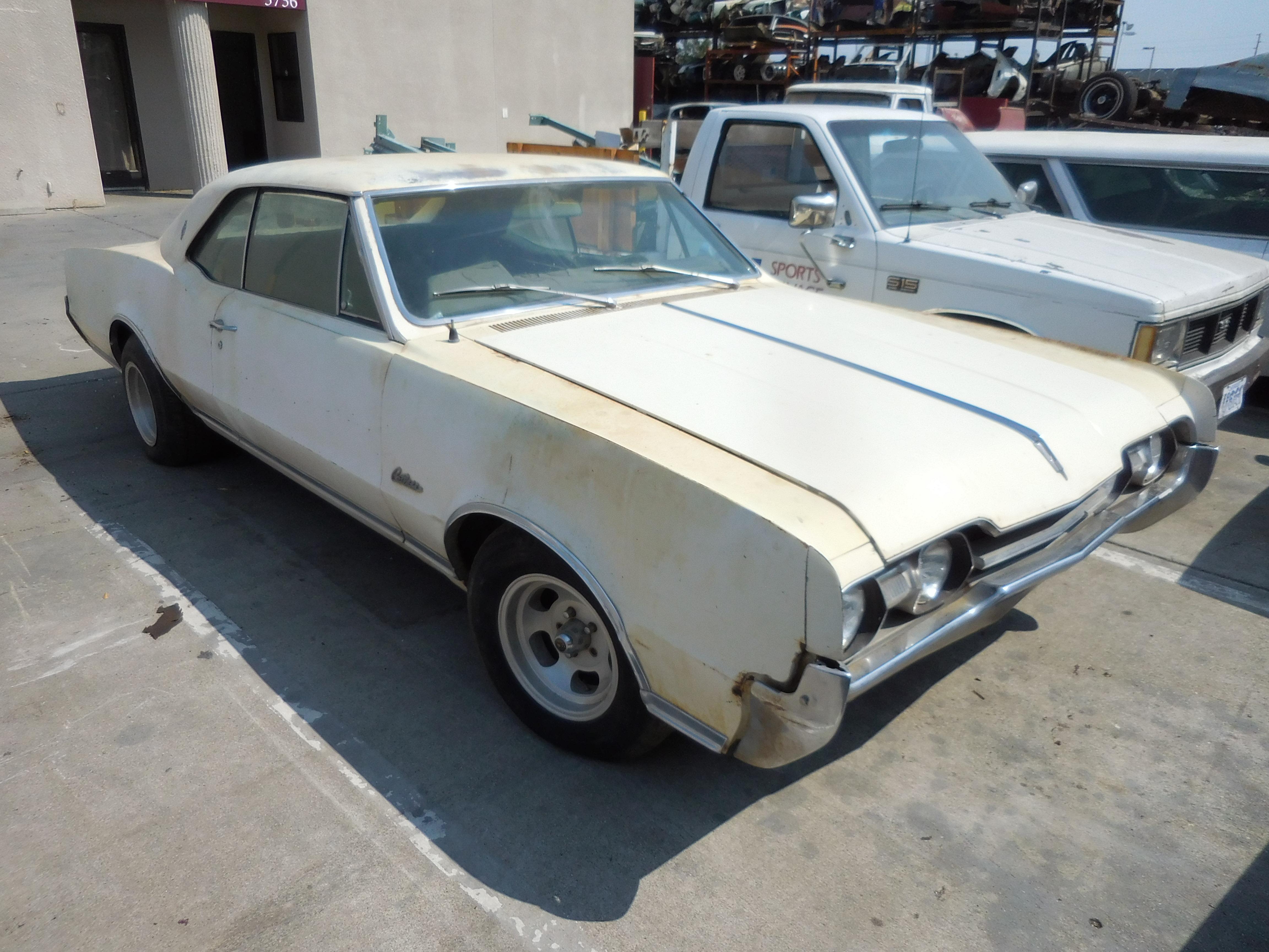 1967, Oldsmobile, Cutlass, hood, door, deck, lid,trunk, bumper, quarter, panel,roof, cowl, frame, suspension, bucket, seats, console,