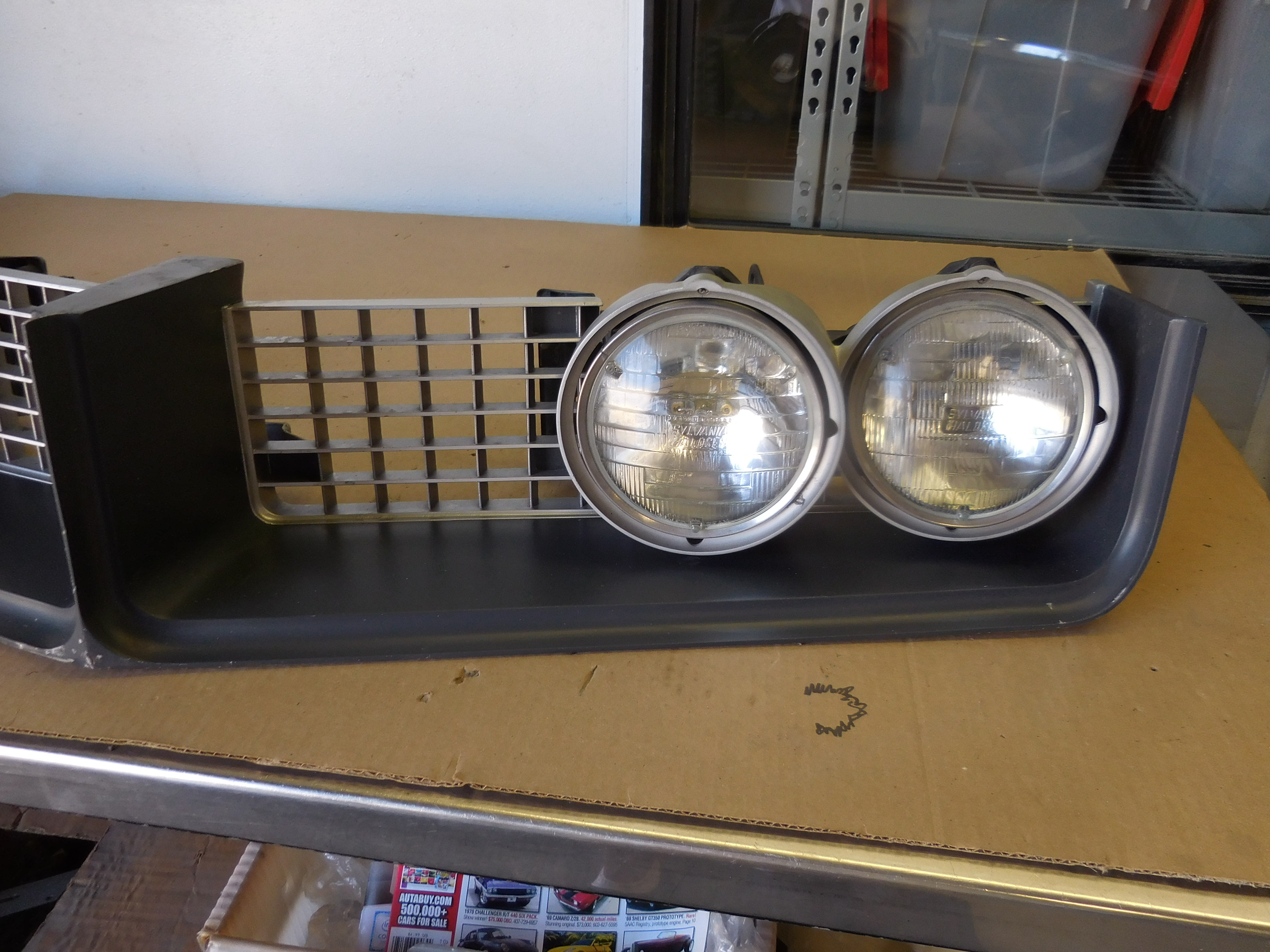 1968, Buick, Riviera, Grill, and, Hide, Away, Headlight, Assembly,