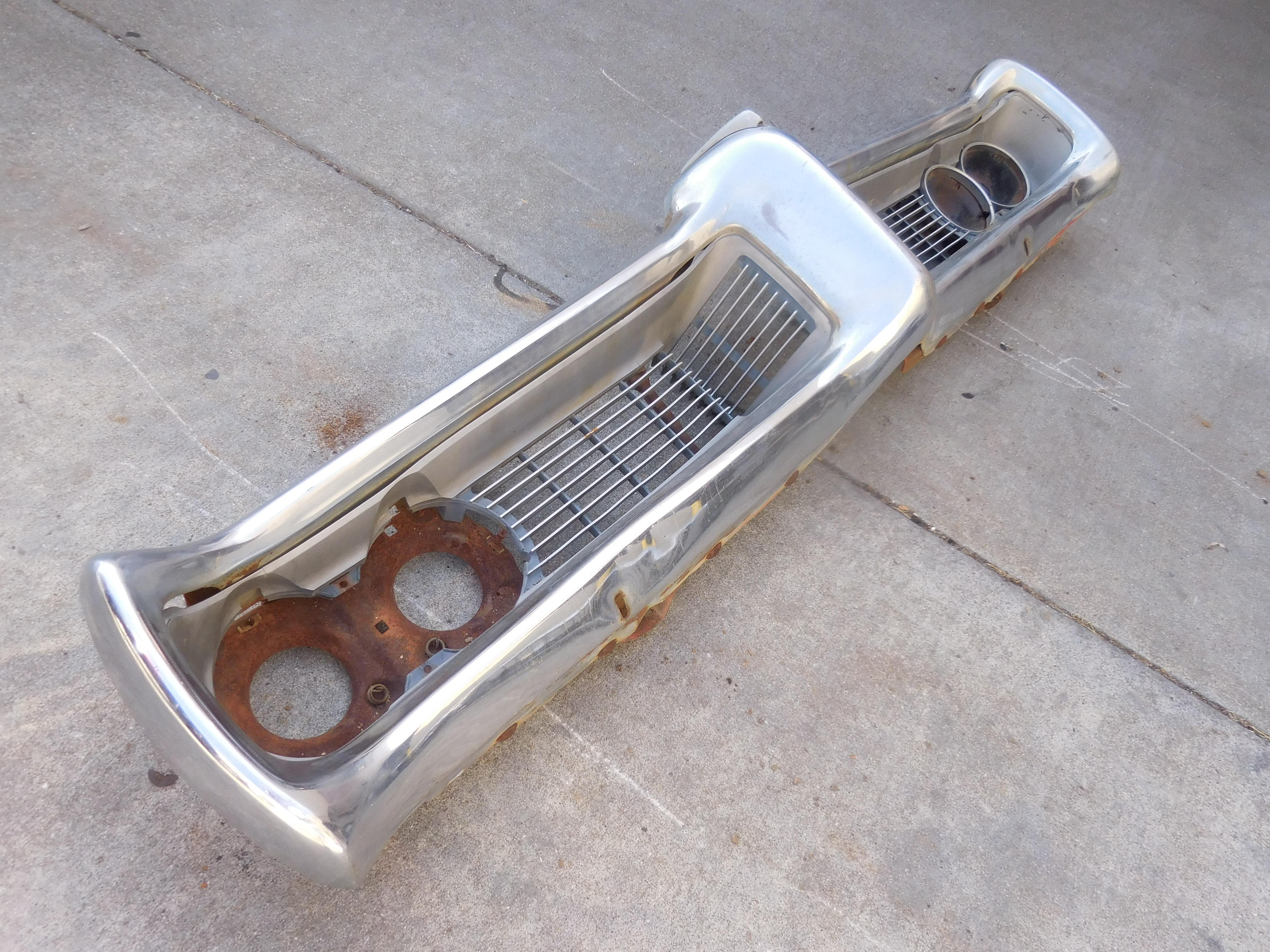 1968, Pontiac, Lemans, Front, Bumper,