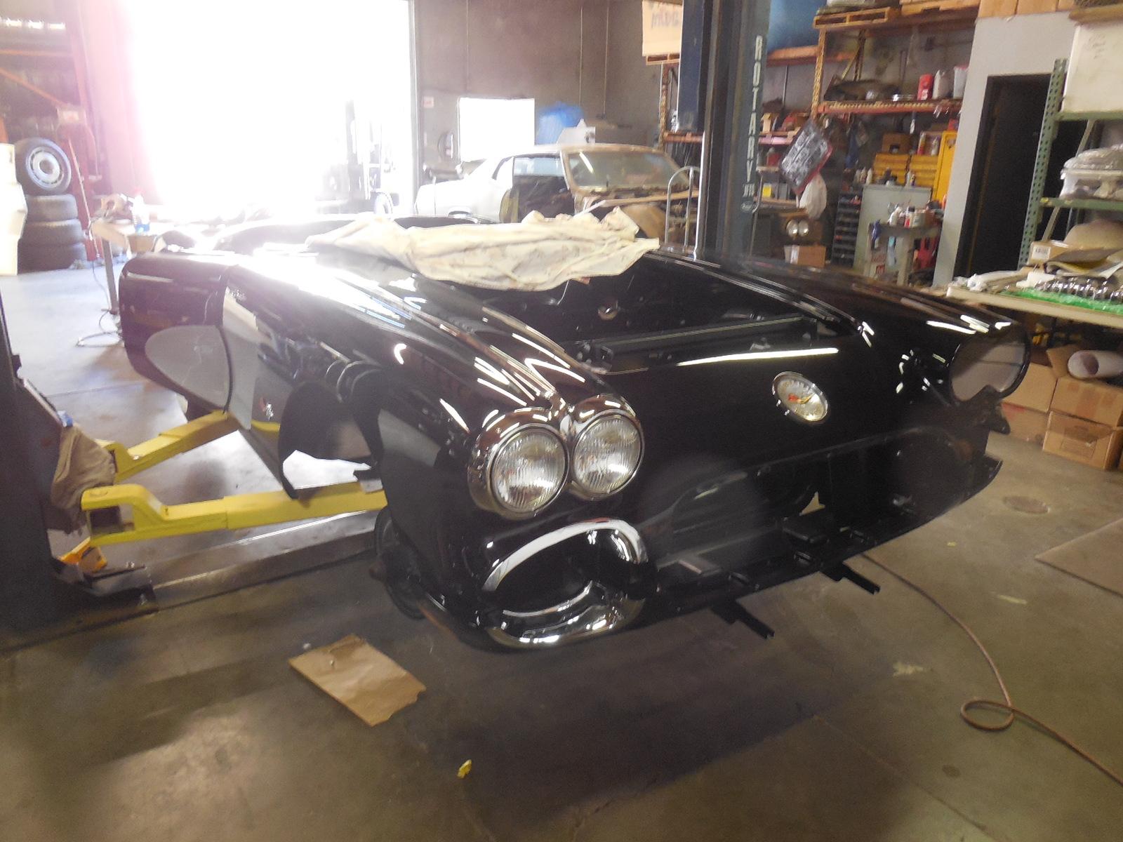 1958, Corvette, Restoration, in, Progress,
