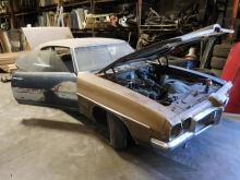 1970, Pontiac, LeMans, bucket seats.1969, 1971, 1972, Floor, Shift, Steering, Column, Fender, quarter, Panel, Tail, Glass, Door, Frame